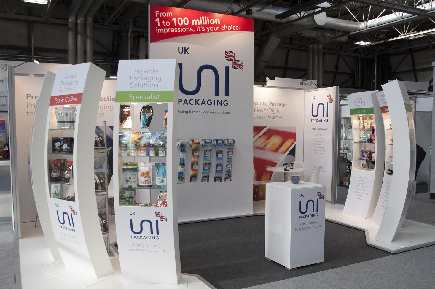 Packaging Innovations trade show strategy for UNI UK